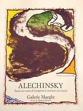 AFFICHE ALECHINSKY 1981 GALERIE MAEGHT