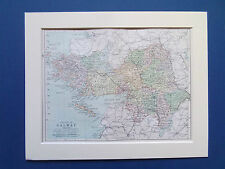 """GALWAY COUNTY IRELAND BARTHOLOMEWS MAP DATED 1890 IN 10""""X8"""" MOUNT READY TO FRAME"""