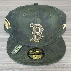 Official Boston Red Sox Armed Forces Day Collection New Era Hat 7 7/8 On Field
