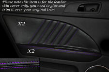 PURPLE Stitch 2x POSTERIORE PORTA CARD Trim in pelle copre gli accoppiamenti ALFA ROMEO 159 05-12