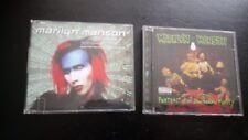 """MARILYN MANSON """" PORTRAIT OF AN AMERICAN FAMILY/ ROCK IS DEAD """" CD'S"""