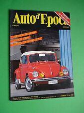 Auto d'Epoca Giugno 1992 Volkswagen Maggiolino Cabriolet 1300 Salone di Torino