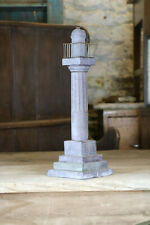 """Extraordinary """"Marquess of Anglesey Column"""" Welsh Carved Slate Folk Art Antique"""