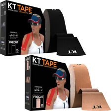 "Kt Tape algodón Jumbo 10"" Precortada Kinesiología Deporte Terapéuticas Roll - 150 Tiras"