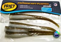Hogy Pre Rigged 3oz 84gr Barbarian Jig with 9inch Eel Soft Lure Color Glow Olive