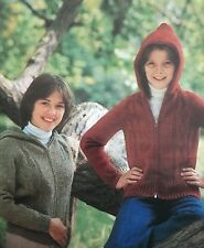 FU29 - Knitting pattern - Unisex Aran Hoodie / Hooded Jumper Jacket