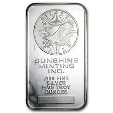 5 oz Silver Bar - Secondary Market - SKU #10449