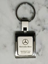 Mercedes Benz Manhattan NYC New York Silver Keychain