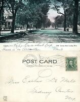 COLUMBIA S.C. GERVAIS STREET 1907 UNDIVIDED ANTIQUE POSTCARD