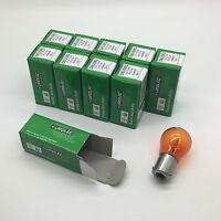 10 x Eurolec 581 PY21W BAU15S Amber Front Indicator Signal Light Bulb 12v 21w