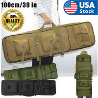 "39"" Tactical Carbine Rifle Range Gun Carry Case Double Padded Backpack Molle Bag"
