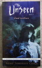 Blood Brothers (The Unseen #3) by Richie Tankersley Cusick PB (Advanced Copy)
