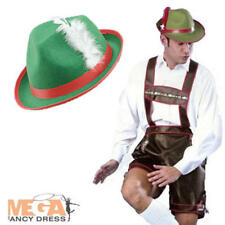 German Beer Man XL Lederhosen + Hat Oktoberfest Fancy Dress Costume Mens Outfit