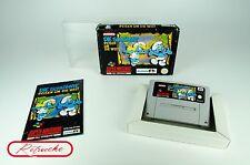 Super Nintendo *Die Schlümpfe Reisen um die Welt* SNES OVP mit Anl und Schutzhü