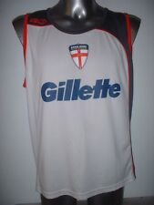 England ISC Vest Rugby League Shirt Jersey Adult Large World Cup Gillette White