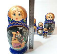 Russian Matryoshka Nesting 4+1 Dolls Original  USSR Gift fairy tale