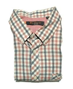 Ben Sherman Mens L Long Sleeve Button Down Shirt Multicolor Checks EUC