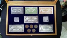RARE MANDATE PALESTINE  6 SILVER BANKNOTES +5 COINS 2 MILS, 1927 ,LIMITED  +BOX
