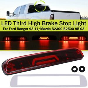 Red Lens 3rd Third Tail Brake Light 3D LED For Ford Ranger 93-11 F550 Super Duty