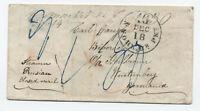 1850s/60s New Market NJ manuscript stampless transatlantic to Germany [H.421]