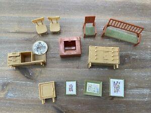 Vintage Mid Century Modern MCM Dollhouse Furniture lot Hong Kong