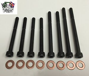 Improved (cap head) oil pump bolt set with washers. XPAG MG TB TC early TD & YA.