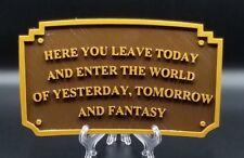 Magic Kingdom Disneyland Entranceway Plaque Inspired Sign - Dual Color