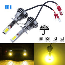 2x Ultra H1 COB LED Fog Light Bulb 2-Mode Flash Bright 4300K Yellow High Power