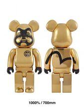 EVISU Bearbrick 1000%  Gold Golden Medicom Toy Be@rbrick Limited Rare SoldOut
