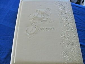 "Vintage Hallmark Embossed Wedding Photo & Keepsake Album - ""Now and Forever"""