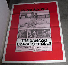 THE BAMBOO HOUSE OF DOLLS orig 1973 one sheet movie poster WW2 WOMEN IN PRISON