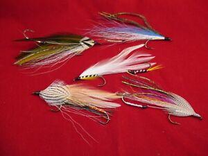 Traditional Streamer Fly Lot, Vintage Tandem Trolling Streamer Flies,