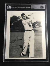 HG HENRY PICARD HALL OF FAME 1938 MASTERS CHAMP SIGNED 8X10 PHOTO BECKETT BAS