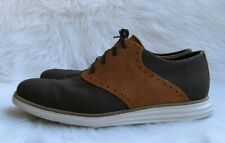 Men's Cole Haan Lunargrand Chestnut Saddle Oxfords Shoes Sz 11M - C12425