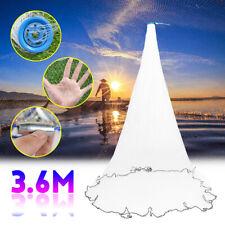 Hand Cast Fishing Net Spin Netzwerk Easy Throw Köder Nylon Mesh240cm//300cm Sale