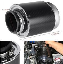 "Auto Car Air Filter Carbon Fiber 3"" Inlet/5"" For Cold Air/Short Ram Intake~"