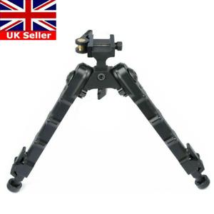 "7""- 9"" Adjustable Flat Spring Rifle Bipod QD Tactical Picatinny Rail Hunting UK"