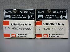 Continental Industries I.O Oac-15-000 Solid State Relay Qty of 2 106E-3