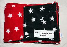 Couverture Bébé Poussette Poussette bébé rouge et noir avec étoiles blanches Revers Polaire