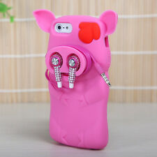 For Apple iPhone 5 5S SE Rubber SILICONE Soft Gel Skin Case Cover Pink Pig Nose