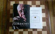 La nueva Rusia firmó Mijaíl Gorbachov Tapa Dura 2016 1st Edition 3rd impresión