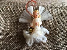Vintage German Angel Carrys Lantern ,Angel Hair Clouds,Wings Christmas Ornament