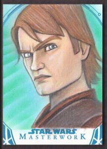 2018 Star Wars Masterwork Sketch Card Mohammad Jilani 1/1 Anakin Skywalker