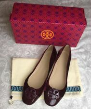 55ddd4f920a591 New Tory Burch Bordeaux Chelsea Cap Toe Ballet Shoes Ballet Flats Ss 10.5  Velvet