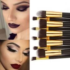 Makeup Brush 10 pcs Synthetic Kabuki Set Cosmetics Blending blush makeup tool