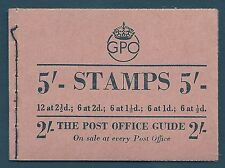 Bd32(1) 5/- George Vi Gpo booklet complete Mnh