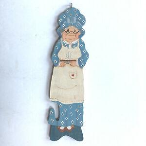 Vintage Wooden Painted Grandma Oven Rack Push/Pull Handle