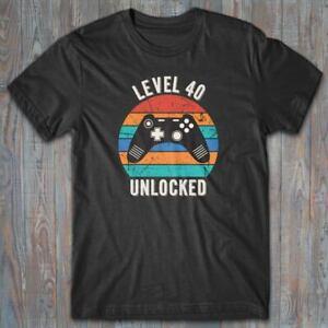 Cool T-shirt 40 Birthday - LEVEL 40 UNLOCKED gift for gamer