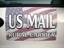 US Mail Magnetic Door Sign Car Auto Postal Rural Carrier 18 x 12 USPS magnet rca