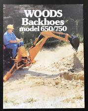 Woods Backhoes 650/750 Farm Garden Agriculture Brochure Advertising